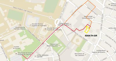 Mapa de cómo llegar al conference venue